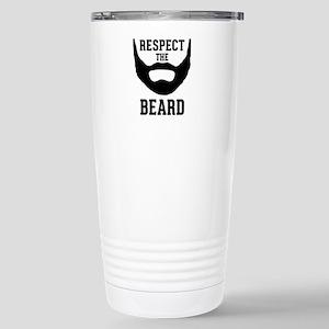 Respect The Beard Stainless Steel Travel Mug