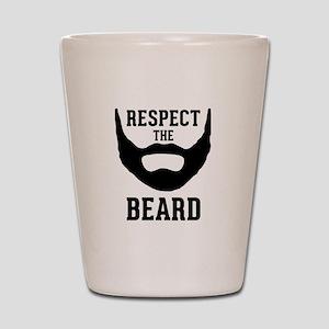 Respect The Beard Shot Glass