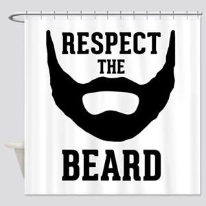 Respect The Beard Shower Curtain