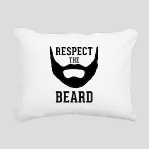 Respect The Beard Rectangular Canvas Pillow