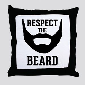 Respect The Beard Throw Pillow