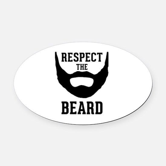 Respect The Beard Oval Car Magnet