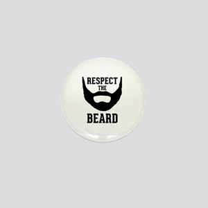 Respect The Beard Mini Button