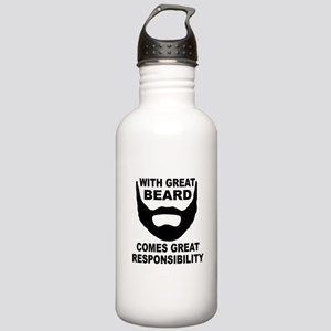Beard Responsibility Stainless Water Bottle 1.0L