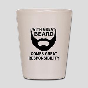 Beard Responsibility Shot Glass