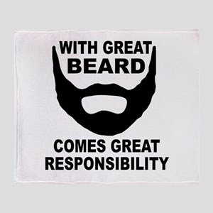 Beard Responsibility Throw Blanket