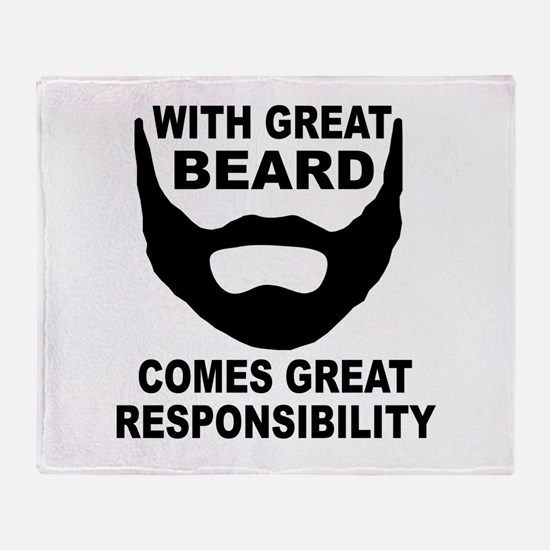 Beard Responsibility Throw Blanket
