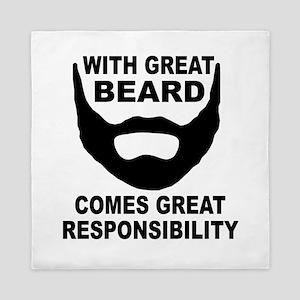 Beard Responsibility Queen Duvet