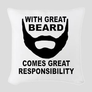 Beard Responsibility Woven Throw Pillow