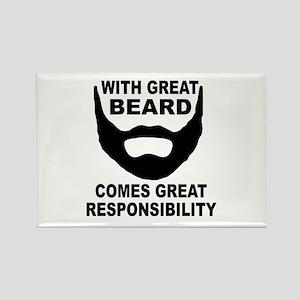 Beard Responsibility Rectangle Magnet