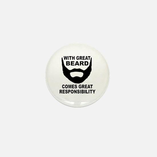 Beard Responsibility Mini Button (10 pack)