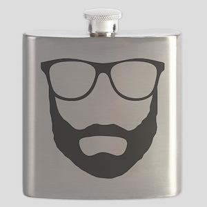 Cool Beard Dude Flask