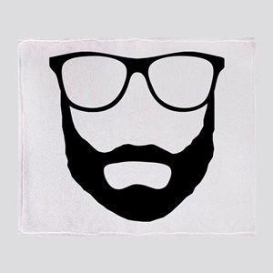 Cool Beard Dude Throw Blanket