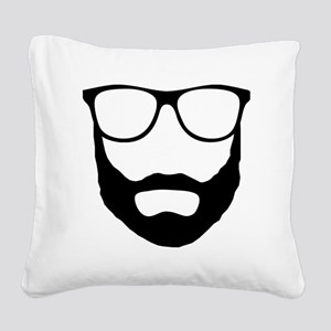 Cool Beard Dude Square Canvas Pillow