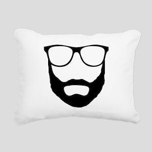 Cool Beard Dude Rectangular Canvas Pillow