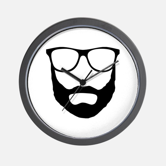 Cool Beard Dude Wall Clock