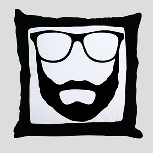 Cool Beard Dude Throw Pillow