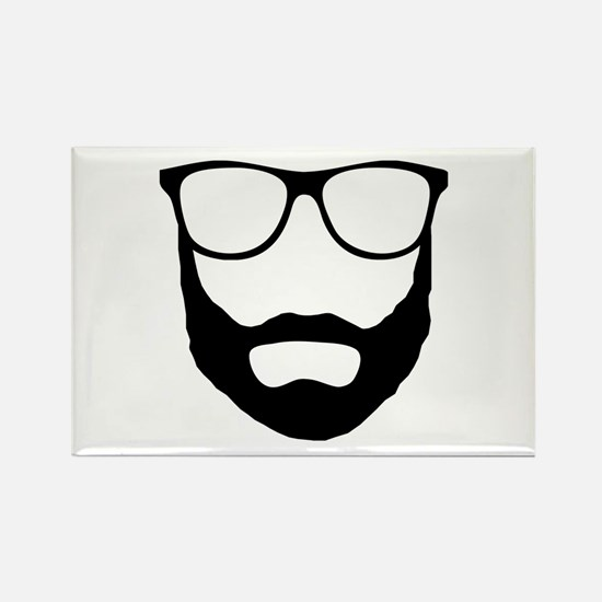 Cool Beard Dude Rectangle Magnet
