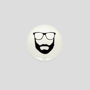 Cool Beard Dude Mini Button