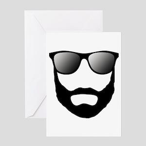 Cool Beard Dude Greeting Card