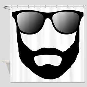 Cool Beard Dude Shower Curtain