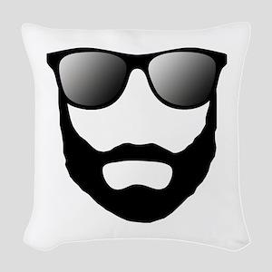 Cool Beard Dude Woven Throw Pillow
