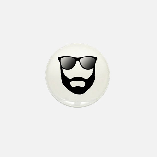 Cool Beard Dude Mini Button (10 pack)