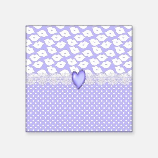 "Fanciful Lips Square Sticker 3"" x 3"""