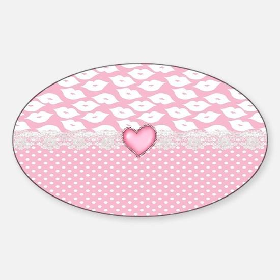 Pucker Up Sticker (Oval)