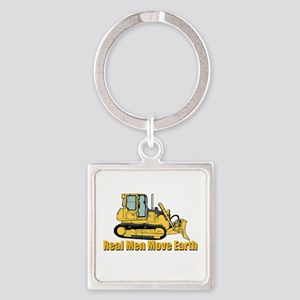 Real Men Move Earth Keychains