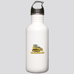 Real Men Move Earth Water Bottle