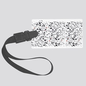 Paint Drips Large Luggage Tag