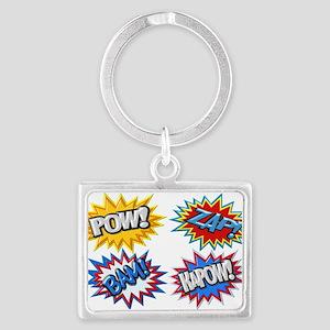 Comic Book Bursts Pow! 3D Keychains