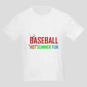 Baseball Hot Summer Fun Kids Light T-Shirt