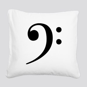 Bass Clef - Music Symbol Square Canvas Pillow
