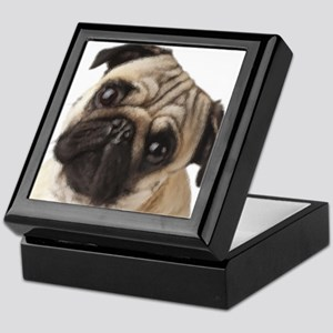 Pug Oil Painting Face Keepsake Box