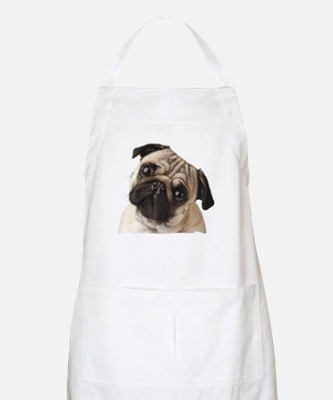 Pug Oil Painting Face Apron