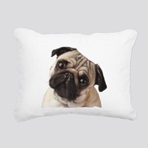 Pug Oil Painting Face Rectangular Canvas Pillow