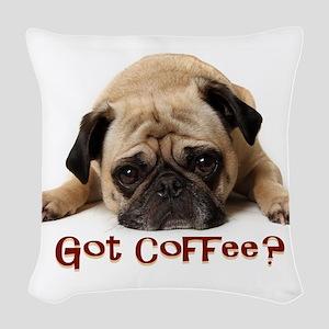 Got Coffee? Woven Throw Pillow