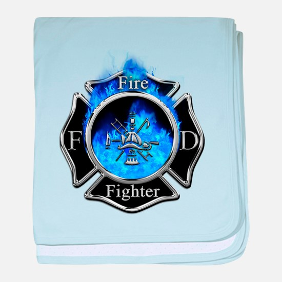 Firefighter Maltese Cross baby blanket