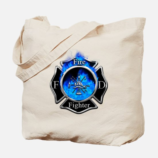 Firefighter Maltese Cross Tote Bag
