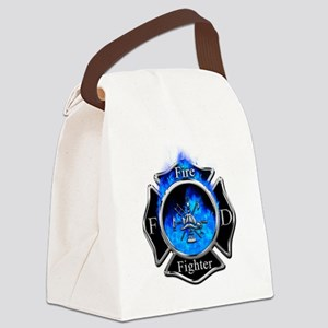 Firefighter Maltese Cross Canvas Lunch Bag