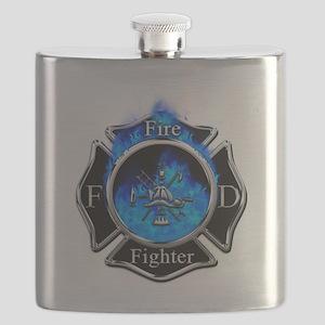 Firefighter Maltese Cross Flask