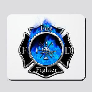 Firefighter Maltese Cross Mousepad