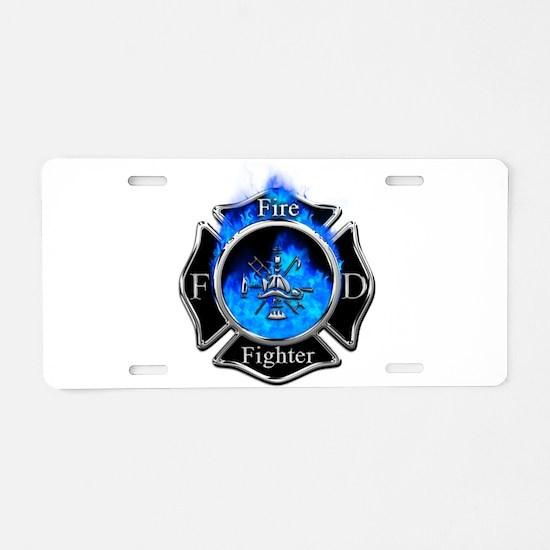 Firefighter Maltese Cross Aluminum License Plate