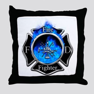 Firefighter Maltese Cross Throw Pillow