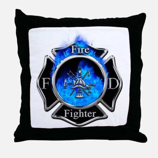 Firefighter Maltese Cross Throw Pillow