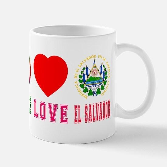 Peace Love El Salvador Mug