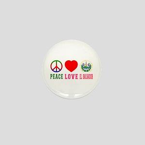 Peace Love El Salvador Mini Button