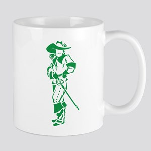 Green Musketeer Stainless Steel Travel Mugs